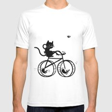 Slaved mouses MEDIUM Mens Fitted Tee White