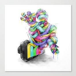 the mummy on air Canvas Print
