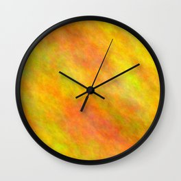 Dark Golden Rod Color Wall Clock