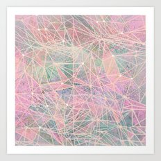pink space abstract Art Print