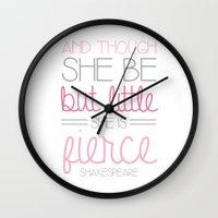 fierce Wall Clocks featuring Fierce by BySamantha | Samantha Ranlet