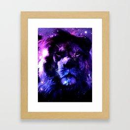 Lion leo purple Framed Art Print