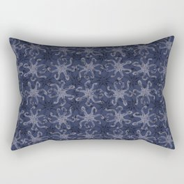 Octopus Kiss - Blue Rectangular Pillow