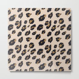 B&B Leopard Design Metal Print