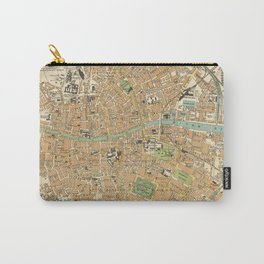 Vintage Map of Dublin Ireland (1914) Carry-All Pouch