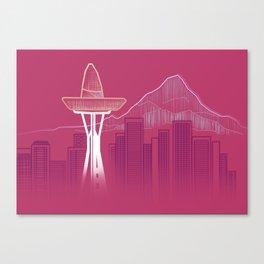 Seattle Sombre Canvas Print