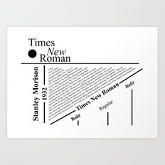 The Times New Roman Art Print
