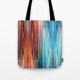 Pattern orange and blue Tote Bag