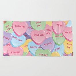 Valentine's candies Beach Towel