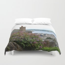 House on a Hilltop Duvet Cover