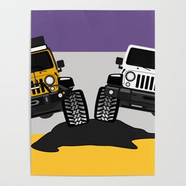 [JEEP COUPLE] yellow+white Poster