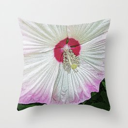 Marsh Rose Throw Pillow