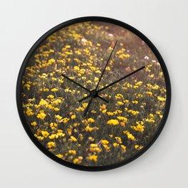 Flowery Field Wall Clock