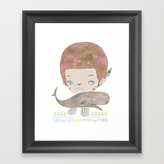 Extinction - SAVE SAFE Framed Art Print