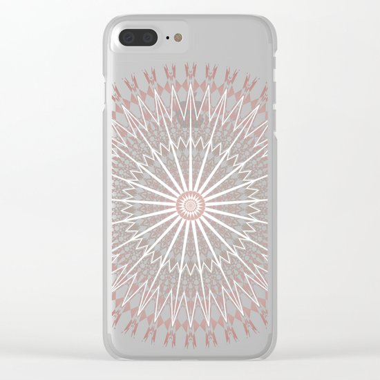 Rose Geometric Mandala Clear iPhone Case