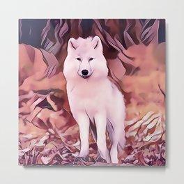 The Highland Wolf Cub Metal Print