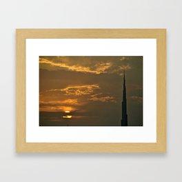 Dubai sunset Framed Art Print