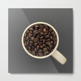 cup of coffee beans Metal Print