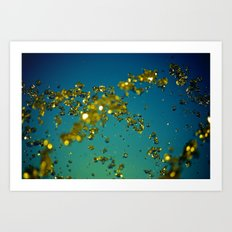 Drops of imagination Art Print