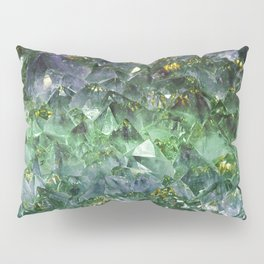 Rough cut emerald and amethyst Pillow Sham