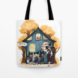 Hallows Eve School for Ghouls Tote Bag