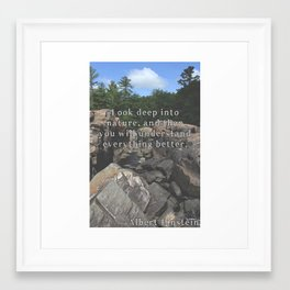 Look Deep Into Nature Framed Art Print
