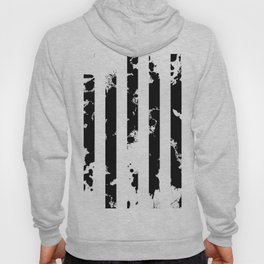 Splatter Bars - Black ink, black paint splats in a stripey stripy pattern Hoody