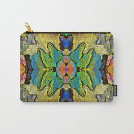 Colorful  Nature Wood Pattern Psychedelic Art Carry-All Pouch