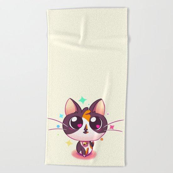 Kitty Love Beach Towel