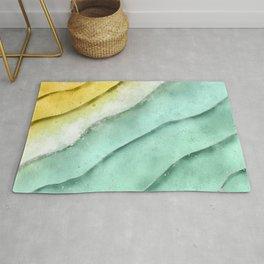 Water, Sea Foam and Sand Rug