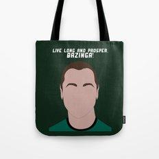 Live Long and Prosper, Bazinga! Tote Bag