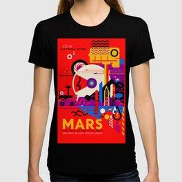 NASA Mars The Red Planet Retro Poster Futuristic Best Quality T-shirt