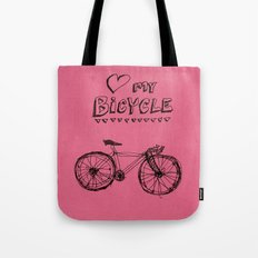 Love my Bicycle Tote Bag