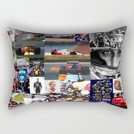 Formula 1 Collage Rectangular Pillow