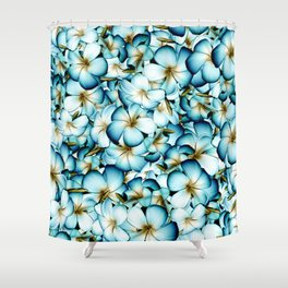 Plumeria Floral Pattern Shower Curtain