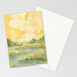 Yellow Marsh Stationery Cards