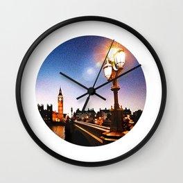 London and Big Ben at Dusk Wall Clock