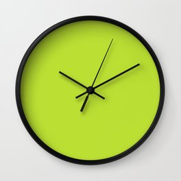 ACID LIME neon solid color  Wall Clock