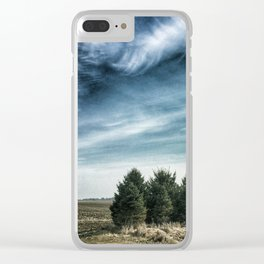 Trees for Windbreak Clear iPhone Case