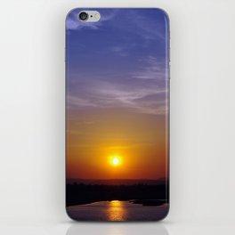 Sunset at the Dam iPhone Skin