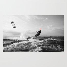 surf santa - kite surf Rug
