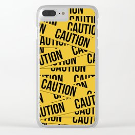 Caution Clear iPhone Case