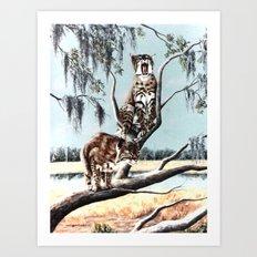 Bobcat Bayou painting Art Print