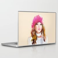 red riding hood Laptop & iPad Skins featuring  red riding hood by tatiana-teni