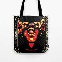 jay z Tote Bags featuring Jay-Z by Rafael Bosco