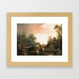 Giuseppe Bernardino Bison (1762–1844) Wanderer in einer hügeligen Landschaft Framed Art Print