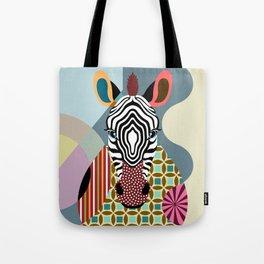 Spectrum Zebra Tote Bag