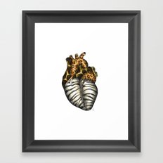 Heart gone wild - color  Framed Art Print