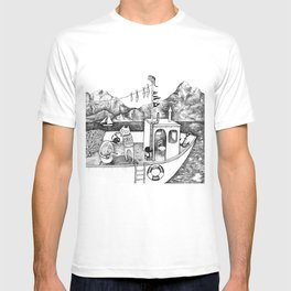 Fox on Fishing-boat T-shirt