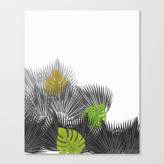 Tropical leaves 04 Canvas Print